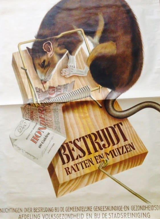 POSTER 'BESTRIJDT RATTEN EN MUIZEN' BY C VAN VELSEN-1