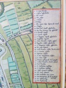 Chart of the Dutch city Gouda by Braun en Hogenberg 1585-3