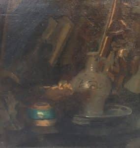 Vroeg stilleven met verborgen zelfportret van Kees van Urk-1