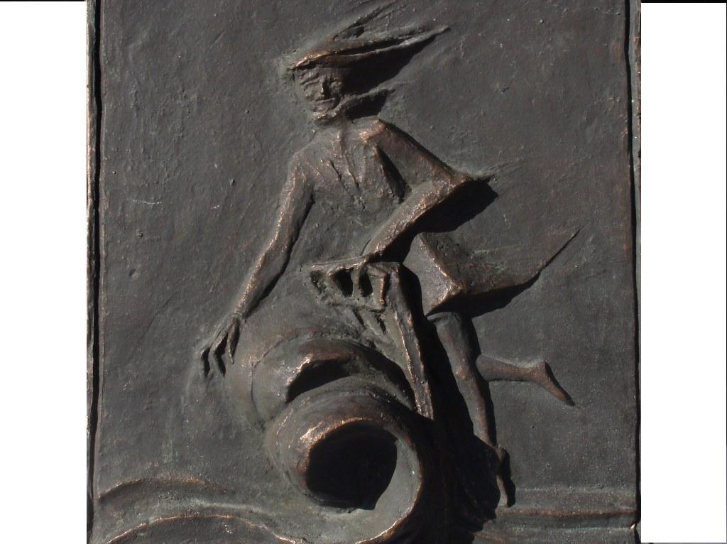 Bronzen plaquette A Bicker-Caarten Berends