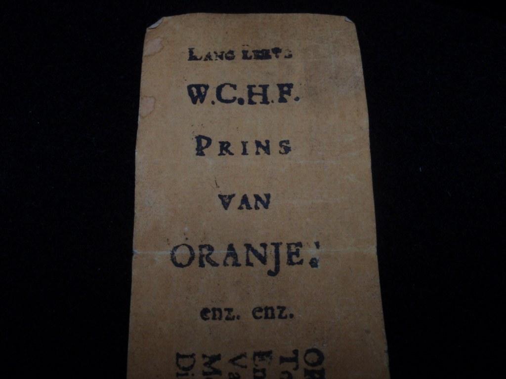 Loflint op intrede Willem IV