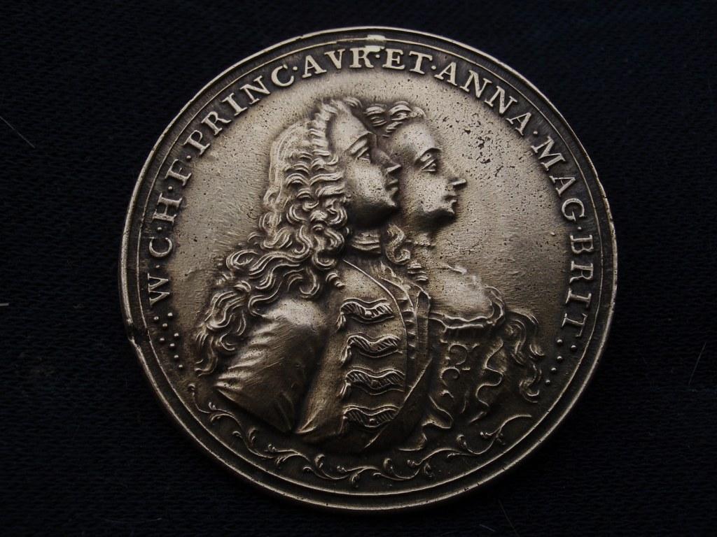 Herdenkingspenning Willem IV – Anna van Hannover