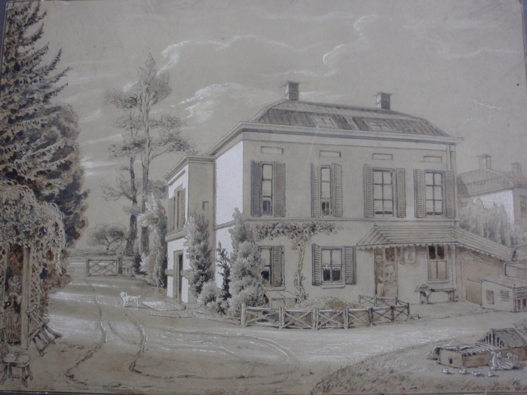 Tekening Pieter van Loon 1864