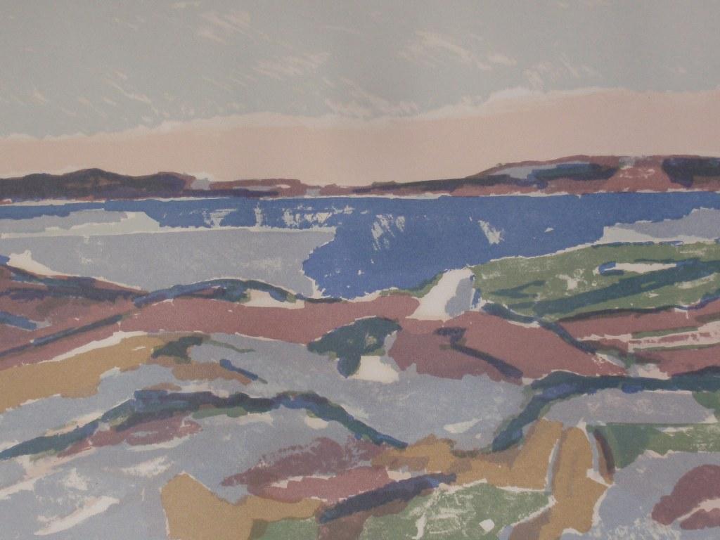 Zeefdruk onbekende kunstenaar circa 1960