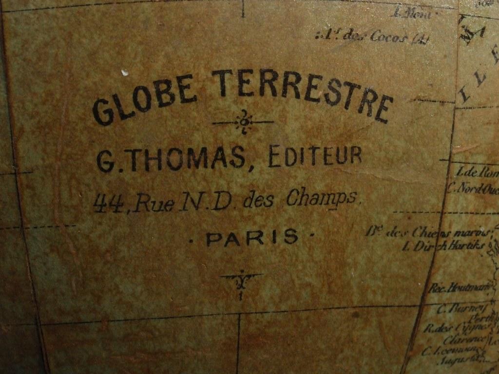 Franse wereldbol G. Thomas 1880-1914
