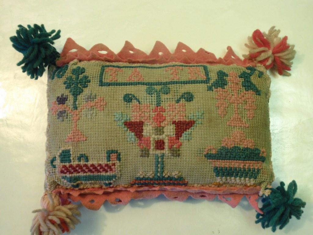Dutch folk art pin cushion 1897
