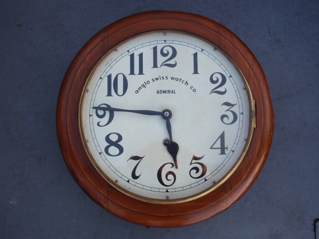 Station clock Admiral by Anglo Swiss Watch Company