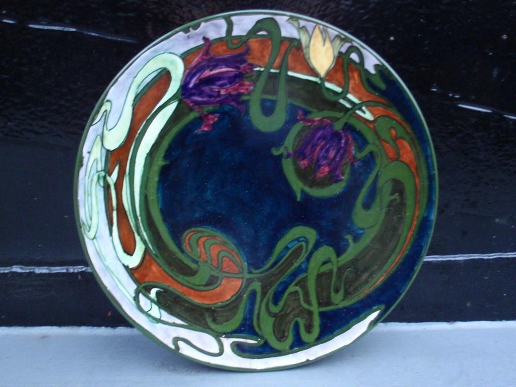 Dutch art nouveau plate of Zuid-Holland by Adrianus Lansaat