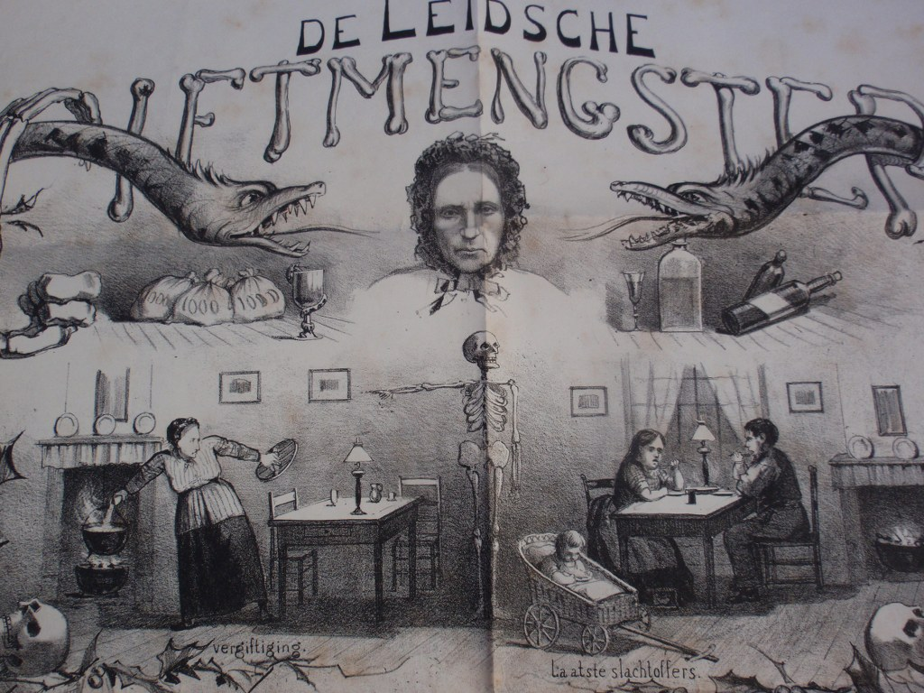 Poster about Dutch female mass murderes Goeie Mie 1885