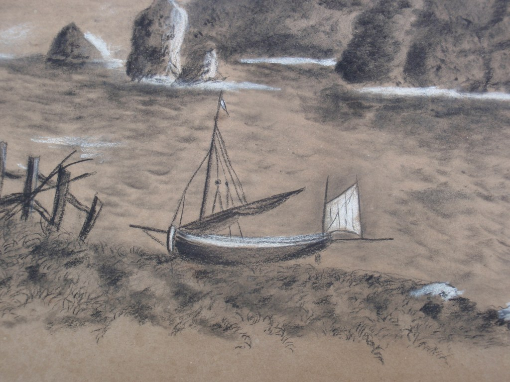 Drawing W. Hore with English phishing boats 1898