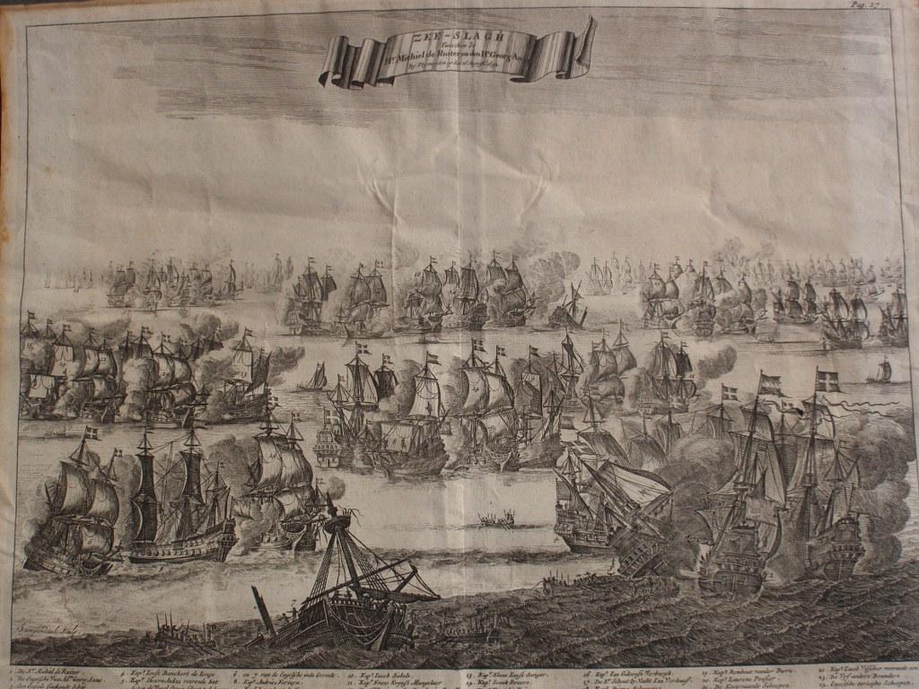 Gravure Zee-slagh by Plymuyden 1672