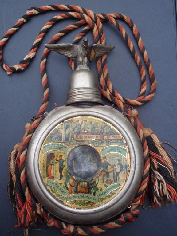 Reservisten Kaiserlich Deutsche Parole Heimat Flasche 1905