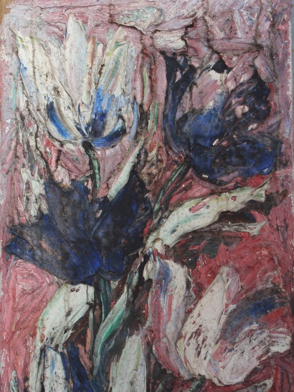 Early tulips painting by Bram Bogart