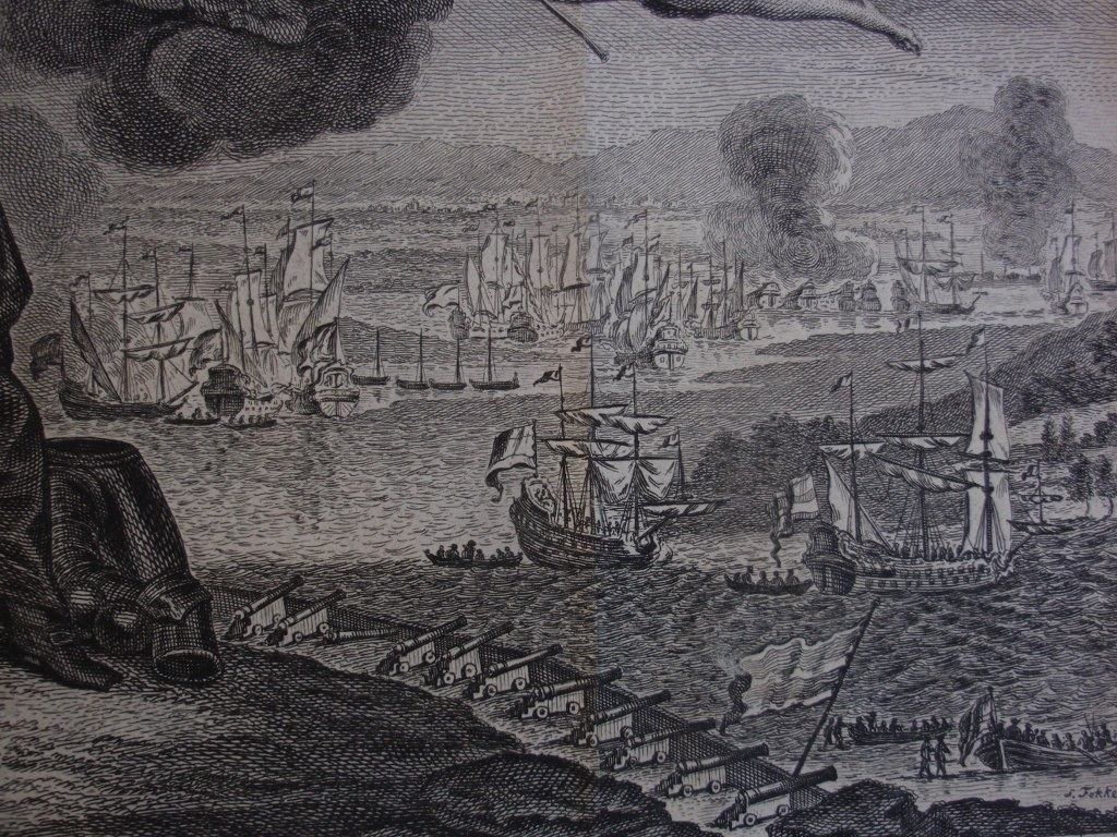 Etching battle of Chatham 1667