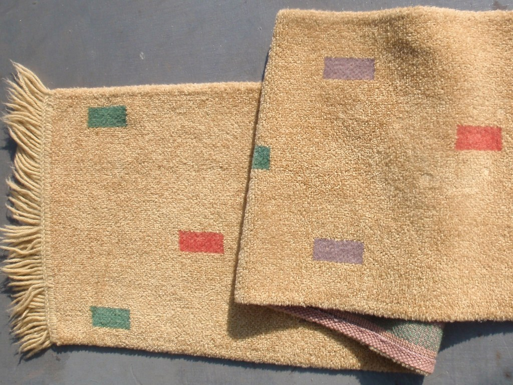 Small Dutch carpet with block motive