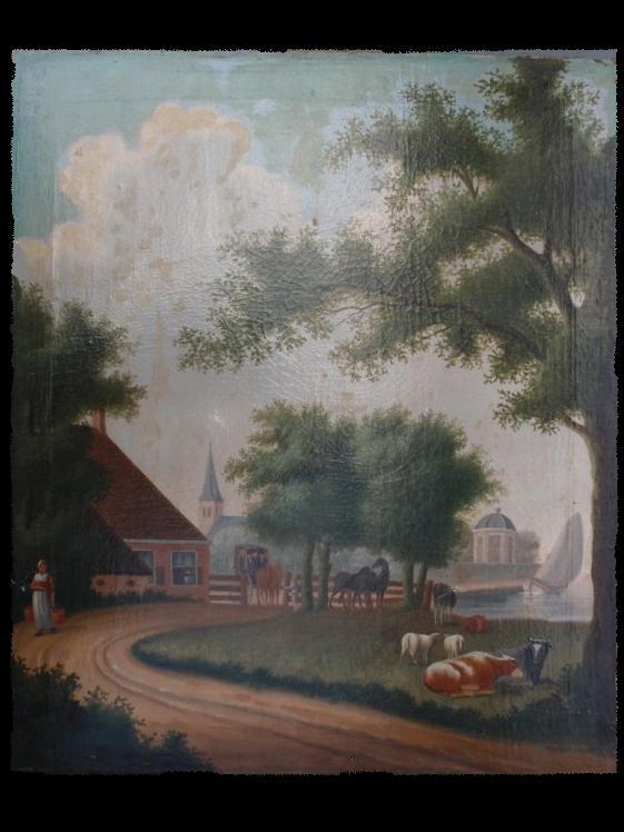 Painting of farm near Akkrum around 1860