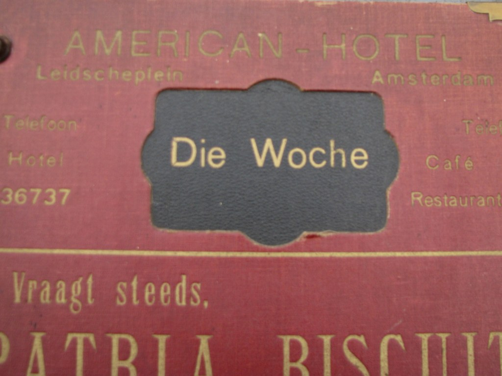 Magazine cover from the American-Hotel