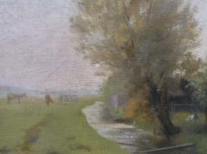Landscape with cows by Dievenbach 1896-4