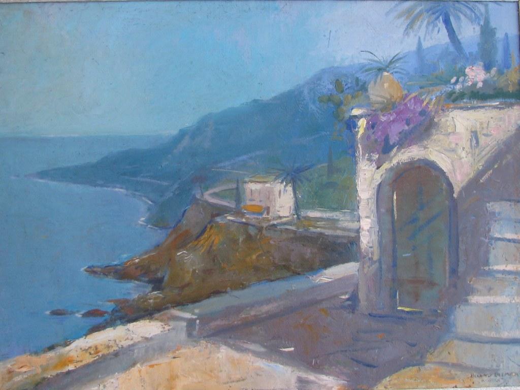 Riviera sea view by Bernard Leemker
