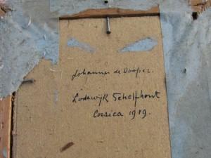 Portret Johannes de Dooper door Lodewijk Schelfhout 1919-2