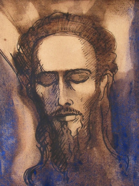 Portrait John the Baptist by Lodewijk Schelfhout 1919