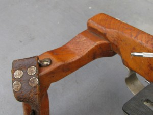 Vintage wooden rifle camera with telelens holder-4
