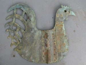 Old Dutch weather vane in the shape of a cock-2