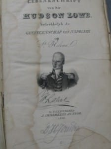 SIR HUDSON LOWE ABOUT NAPOLEON IN FRENCH AND DUTCH-2