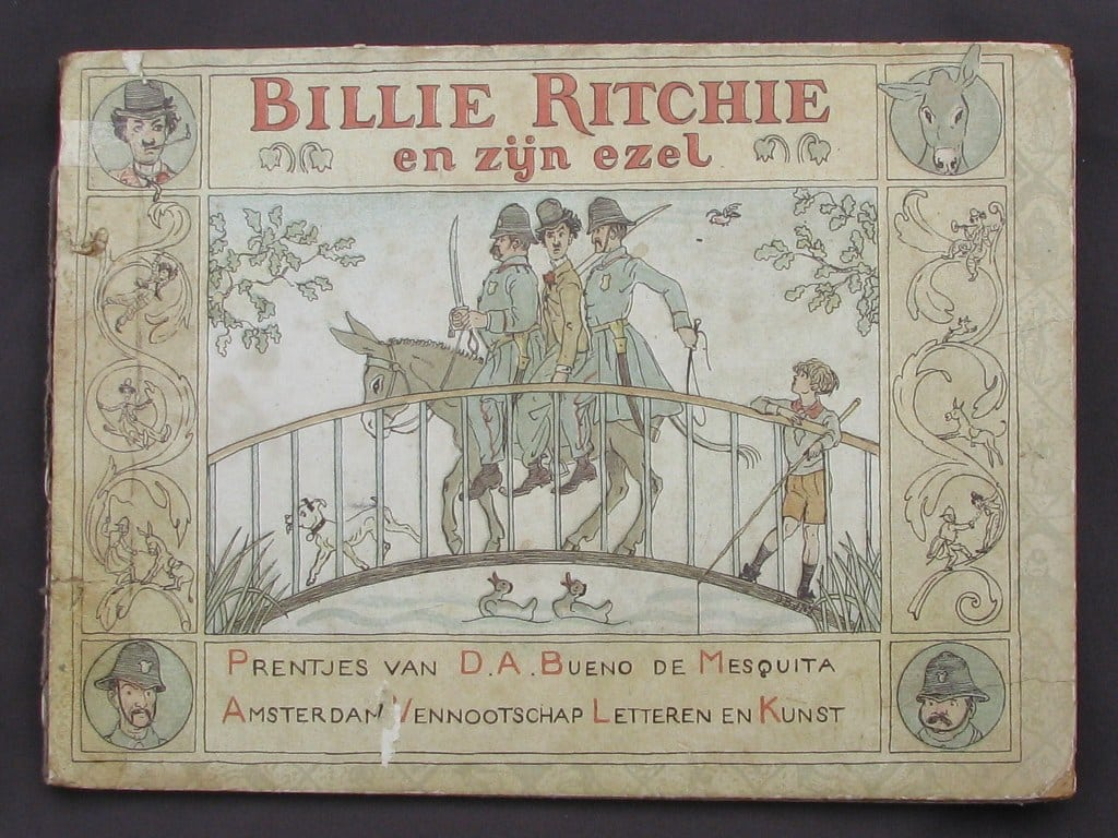 Picture-book BILLIE RITCHIE EN ZIJN EZEL by David Bueno de Mesquita 1918