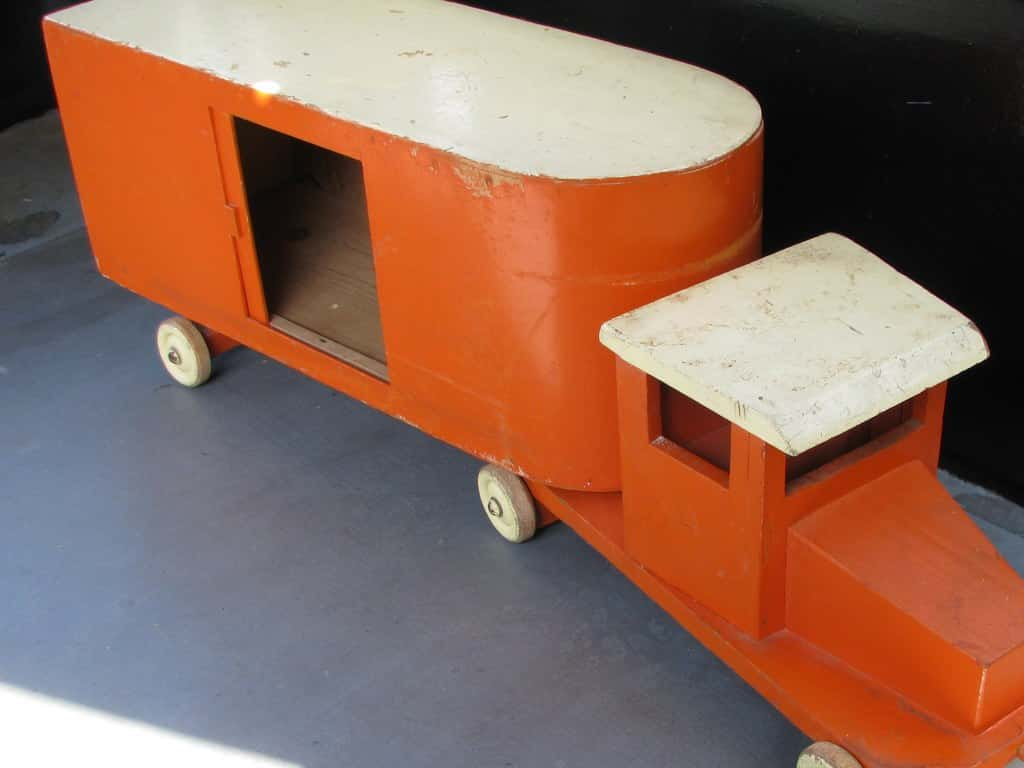 Vintage orange replica ADO truck from around 1950