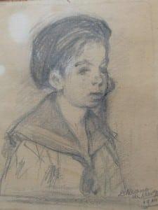 Young boy in sailor suit by David Bueno de Mesquita 1910-2