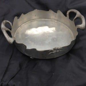 Pewter art nouveau dish by Orivit-4