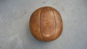 Vintage leather gymnasium medicine ball-1
