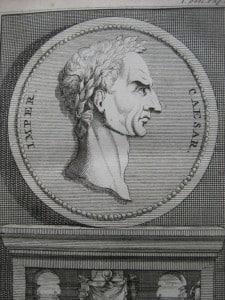 Aantekeningen der Gallische, Burgerlyke, Alexandrynsche, Africaansche, en Hispanische oorlogen door Julius Ceasar 1709-1