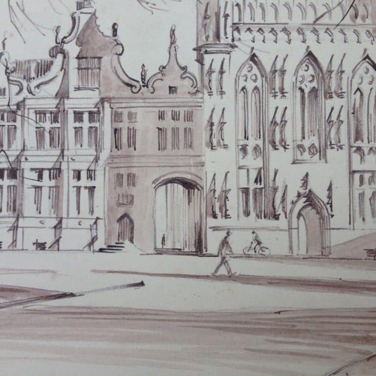 Stadhuis van Brugge door Hans de Lussanet