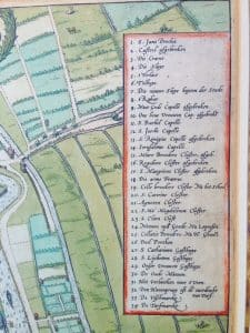 Chart of the Dutch city Gouda by Braun en Hogenberg 1585-3