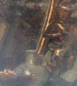 Vroeg stilleven met verborgen zelfportret van Kees van Urk-3